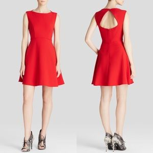 French Connection red Aline dress w/ back cut out